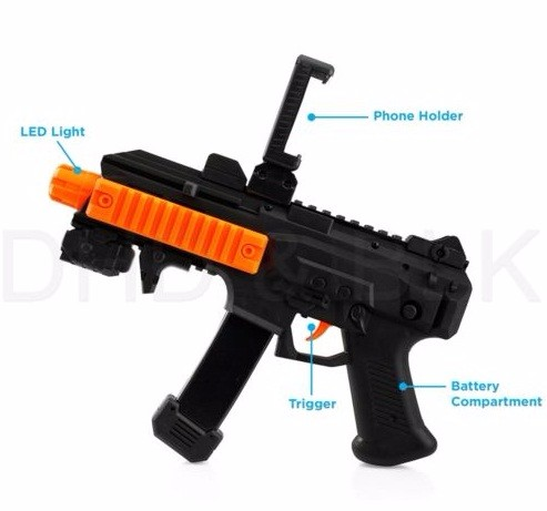 AR GUN Augmented Reality Console Game Controller Bluetooth with Cellphone Holder