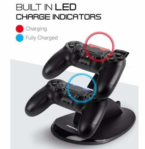 PS4 Dual Controller Charger Dock Station USB Charging Stand